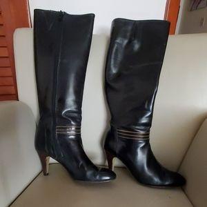 Caressa black leather vintage boots